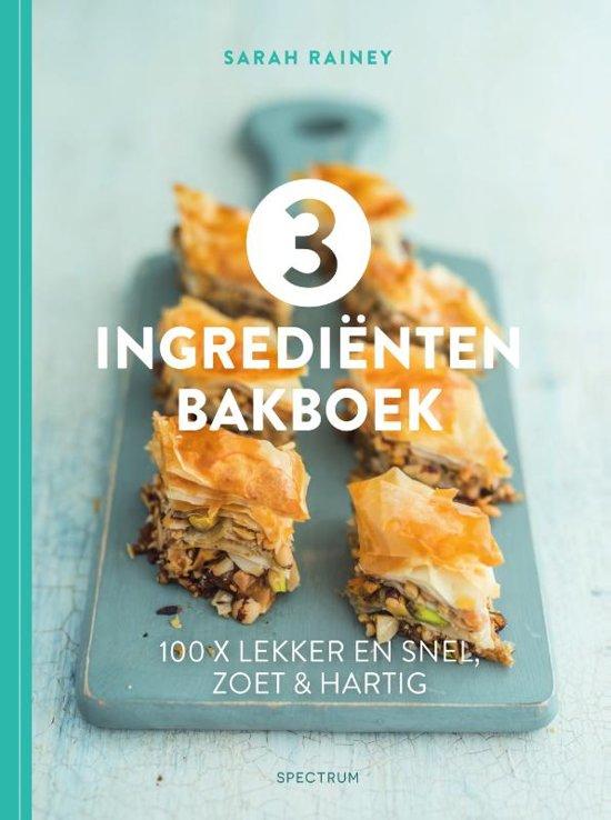 3 Ingrediënten bakboek, met recept voor pecankoekjes